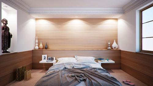Stuckleisten im Schlafzimmer